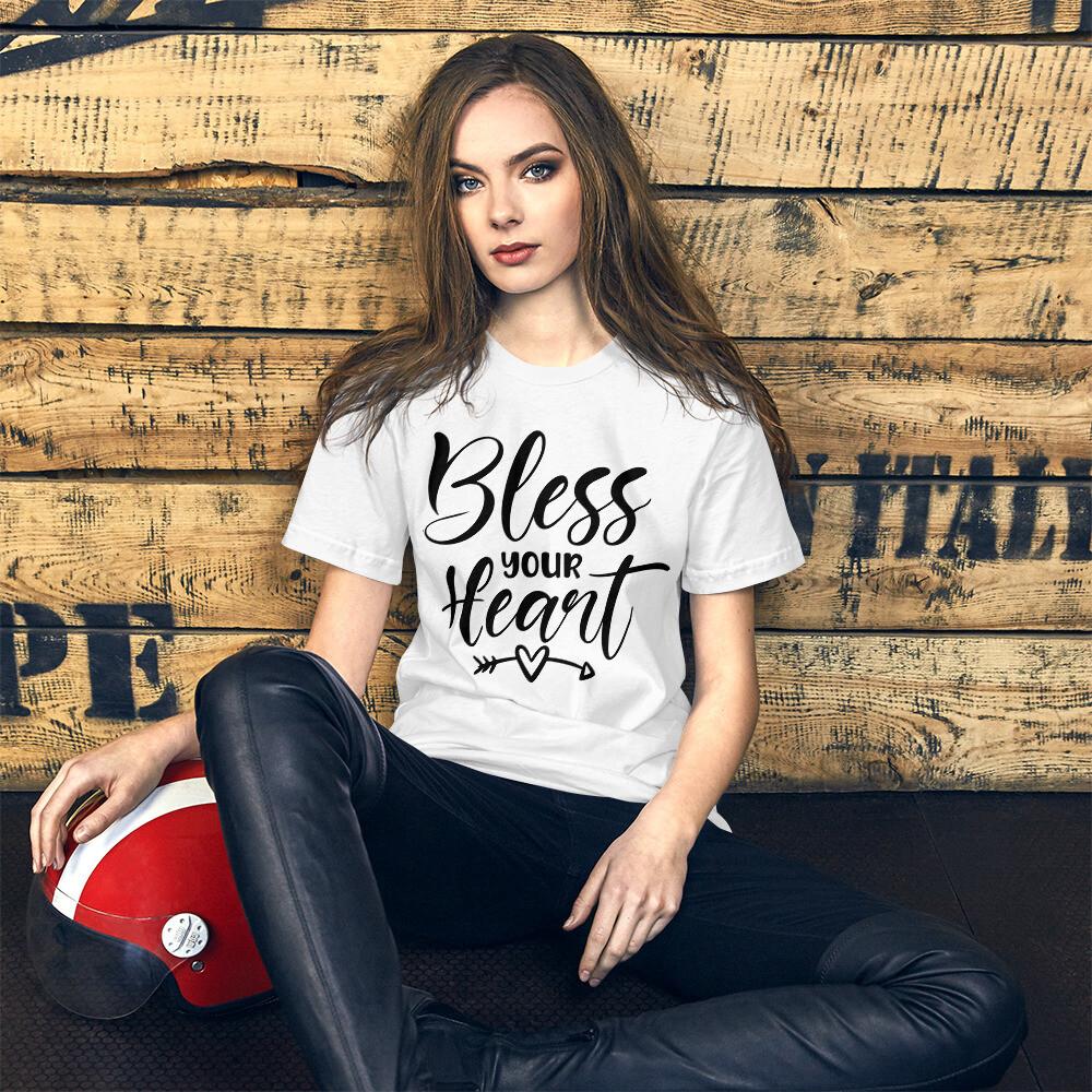 Bless Your Heart Short-Sleeve Unisex T-Shirt/ Bella + Canvas 3001