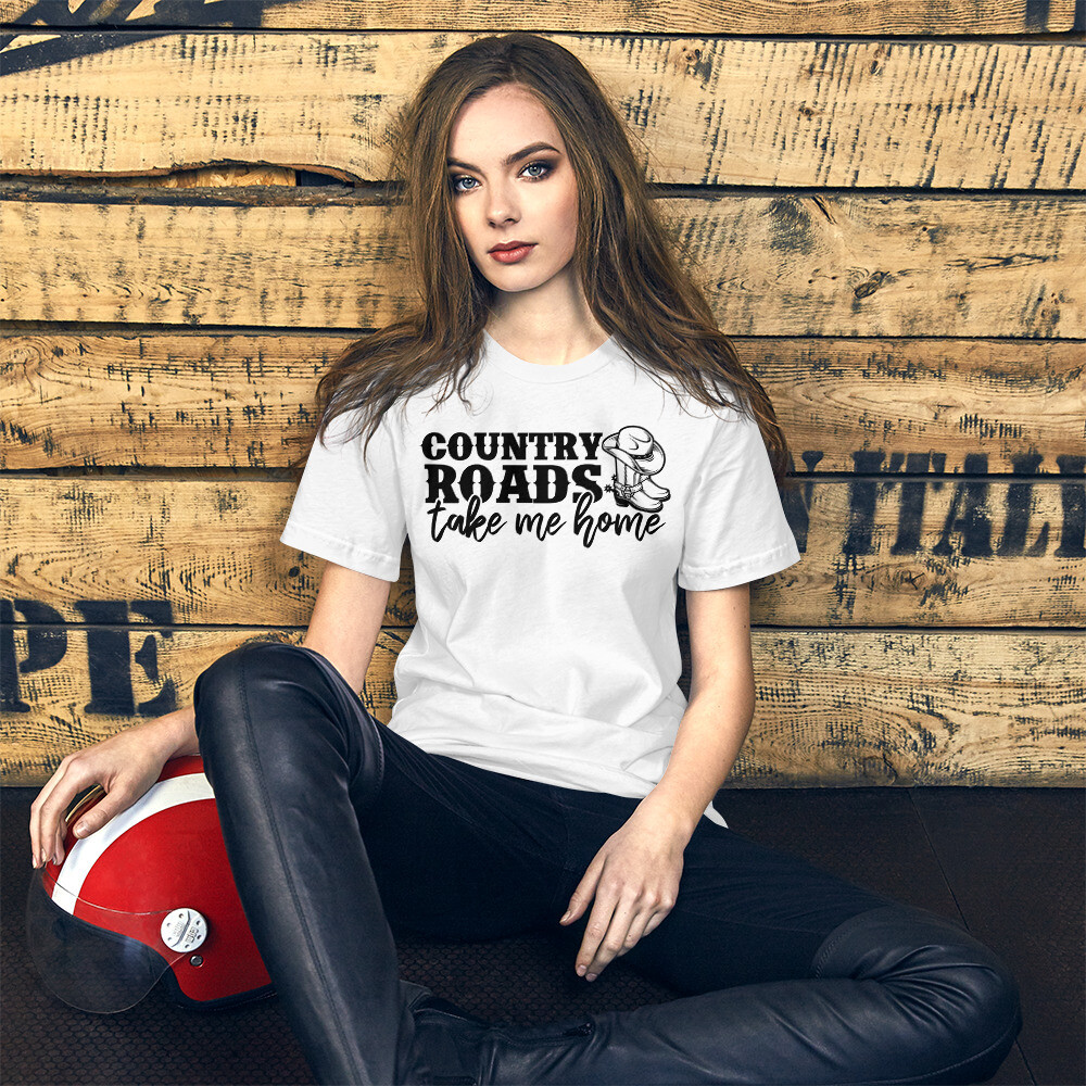 Country Roads Take Me Home Short-Sleeve Unisex T-Shirt/ Bella + Canvas 3001