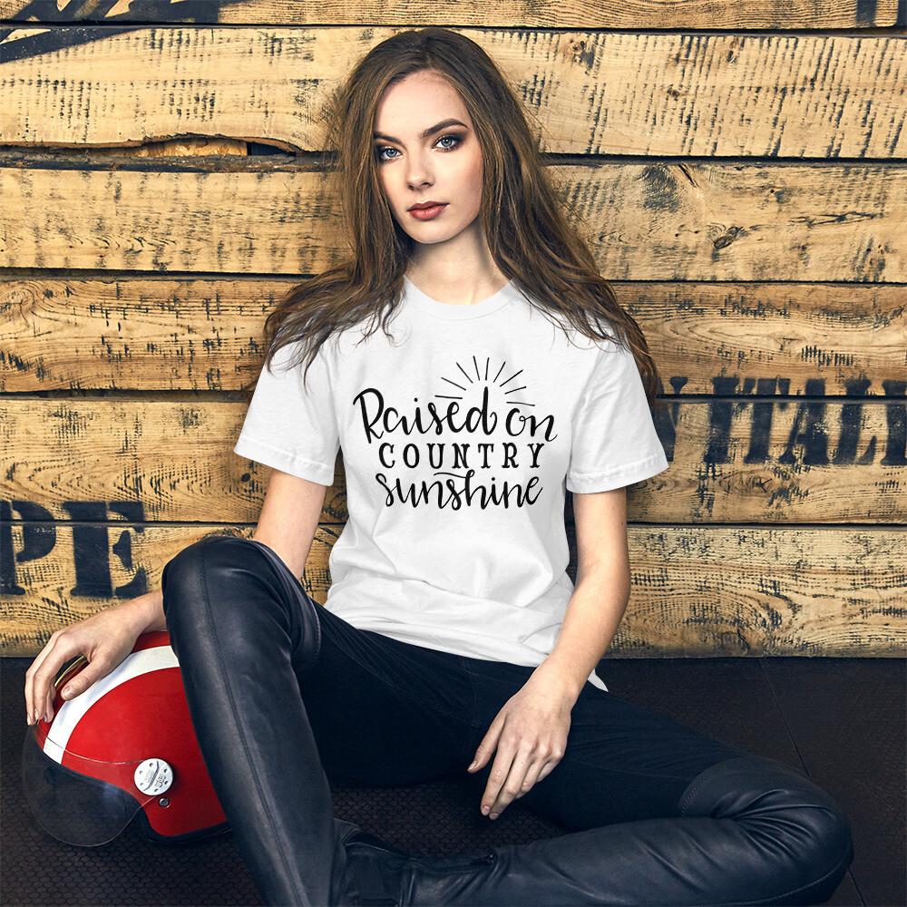 Raised On Country Sunshine Short-Sleeve Unisex T-Shirt/ Bella + Canvas 3001