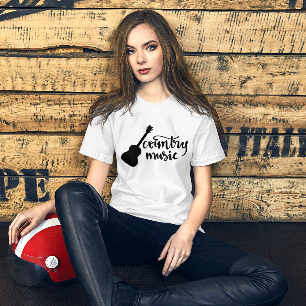 Country Music Short-Sleeve Unisex T-Shirt/ Bella + Canvas 3001