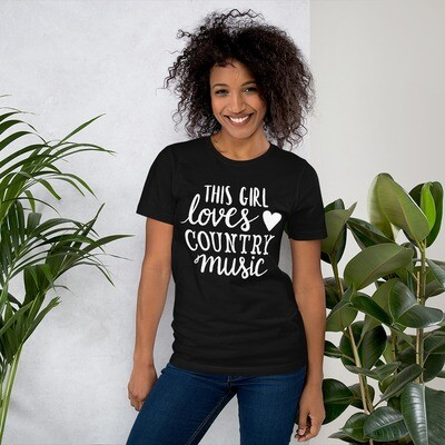 This Girl Loves Country Music Short-Sleeve Unisex T-Shirt/ Bella + Canvas 3001