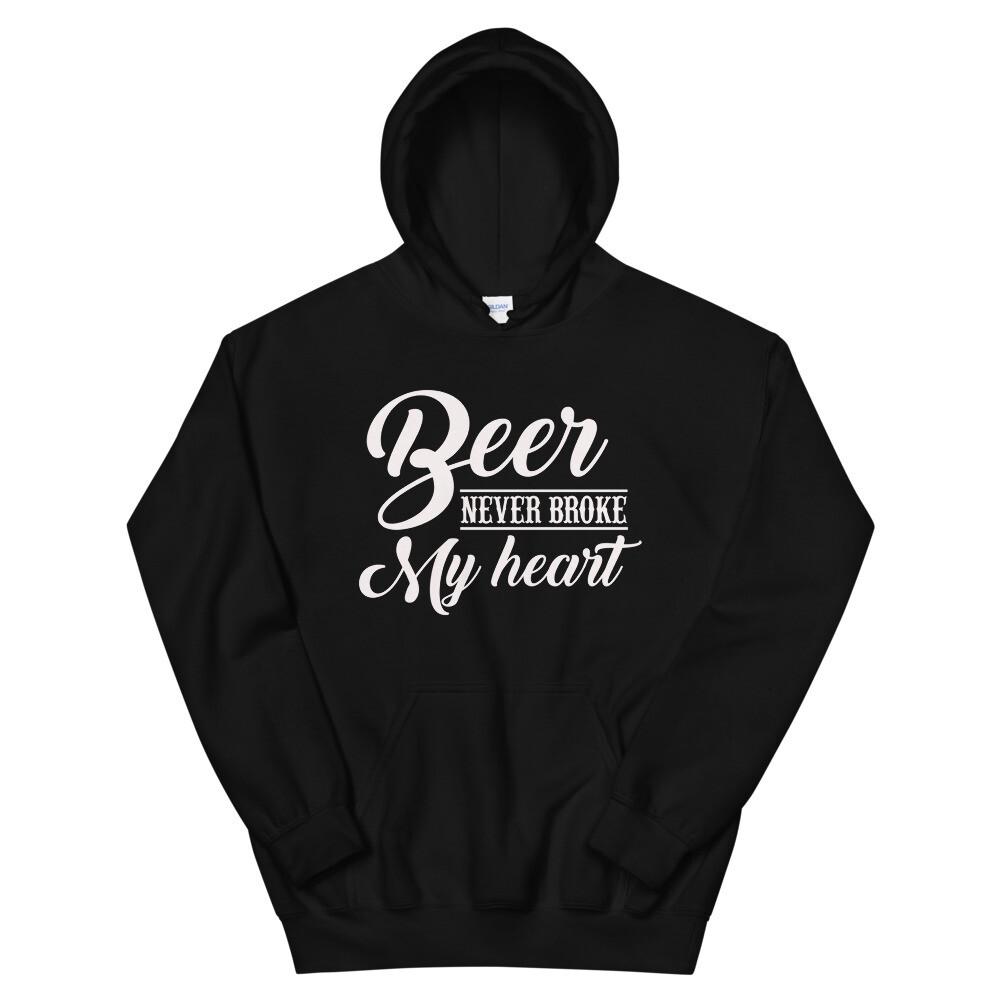 Beer Never Broke My Heart Unisex Hoodie/ Gildan 18500