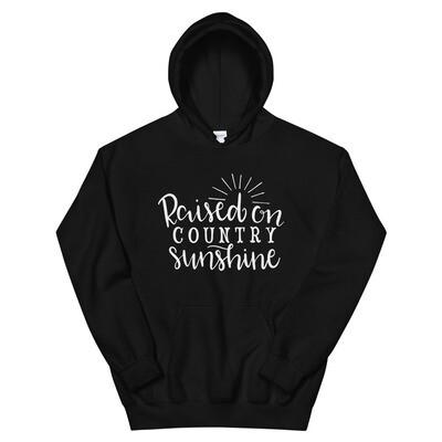 Raised On Country Sunshine Unisex Hoodie/ Gildan 18500