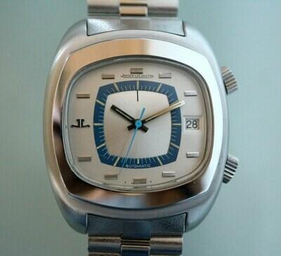 Jaeger-LeCoultre Vintage Memovox Alarm in Stahl, Original Stahl-Armband, 70er Jahre