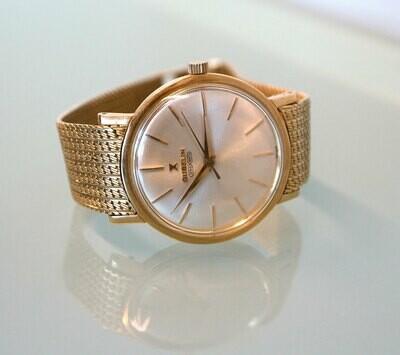 Herren Vintage Gübelin Ipso Matic 18-Karat Gold mit Original 18-Karat Armband, 50er Jahre