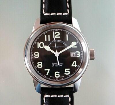 Zeno Watch Classic Pilot Automatik - mit schwarzem Zifferblatt - 2 Jahre Garantie