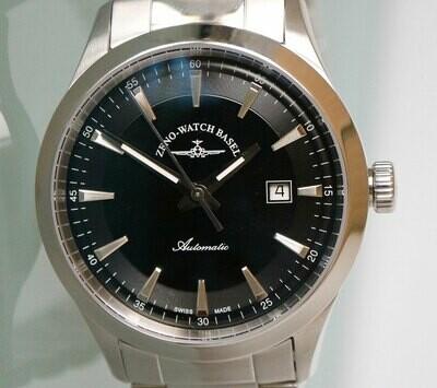 Zeno Watch Event Gentleman Automatik schwarz - 2 Jahre Garantie, inkl. Uhrenbeweger!