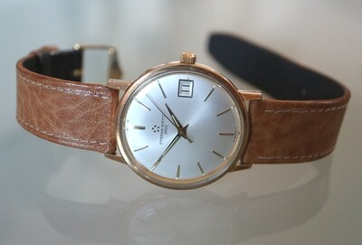 Eterna Matic 3000 Herren-Armbanduhr, inkl. Original Box und Bedienungsanleitung, Swiss Made ca. 1955