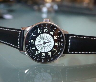 Zeno Watch X-Large Pilot world timer - Weltzeituhr mit Städteskala - 2 Jahre Garantie, inkl. Uhrenbeweger!