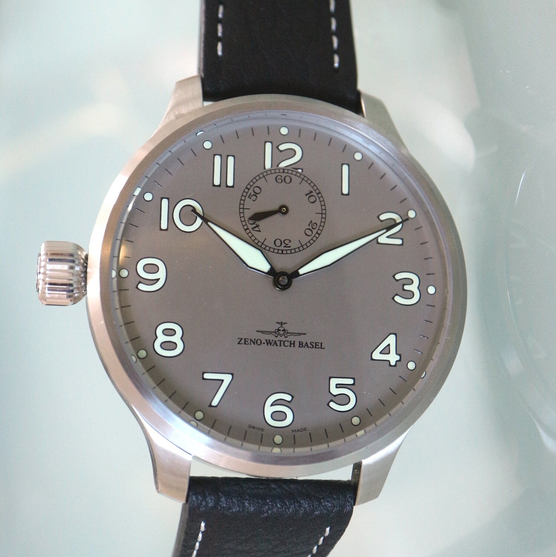 Zeno Watch Super Oversized SOS Automatic grau - 2 Jahre Garantie, inkl. Uhrenbeweger!
