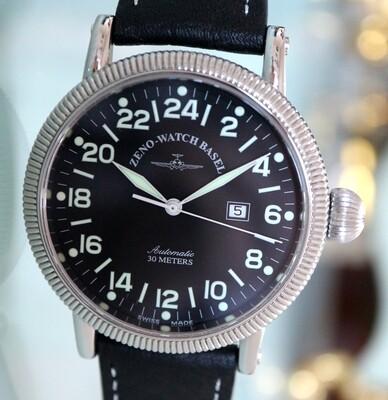 Zeno Watch Vintage Style Nostalgia XL 24 Stunden  – 2 Jahre Garantie, inkl. Uhrenbeweger!