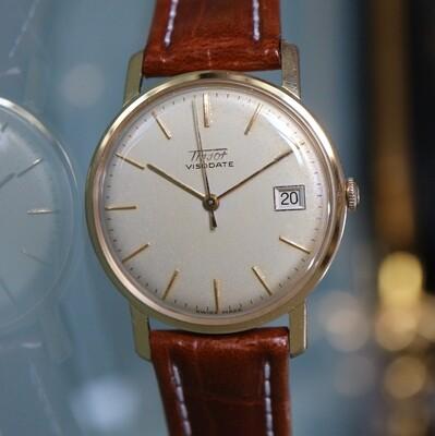 Tissot Visodate, Swiss Made, 60er Jahre vergoldet - revidiert mit 1 Jahr Garantie