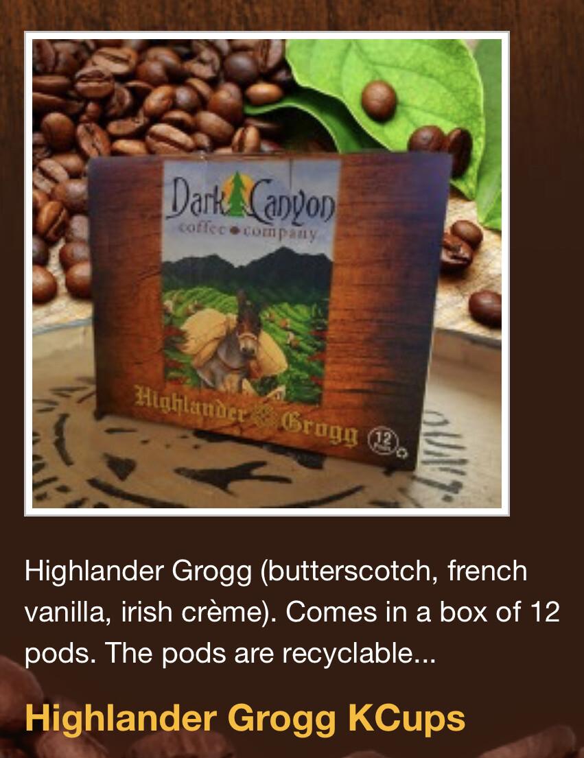 Highlander Grogg Coffee - K-Cups