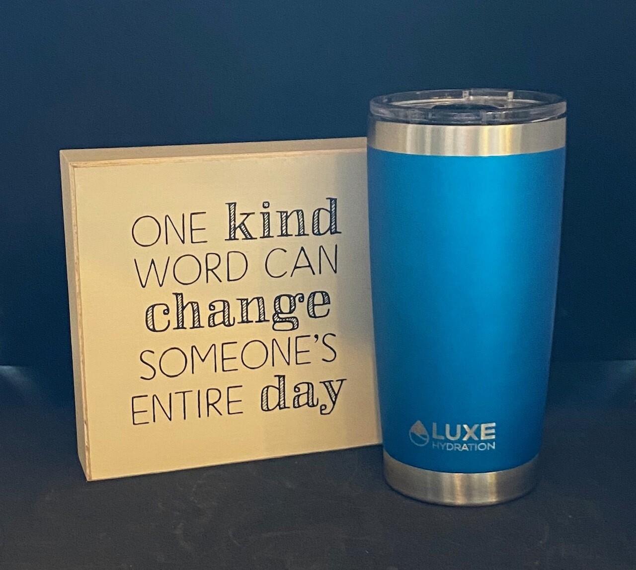One Kind Word Sign + Mug Gift Set