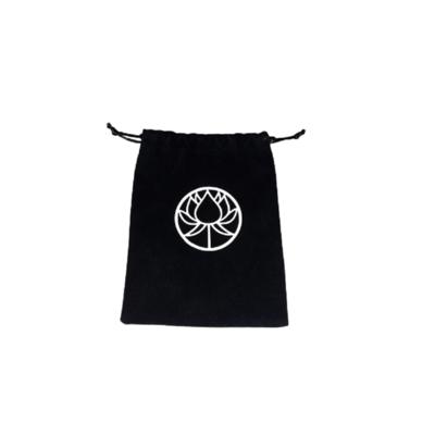 Lotus Flower Drawstring Bag