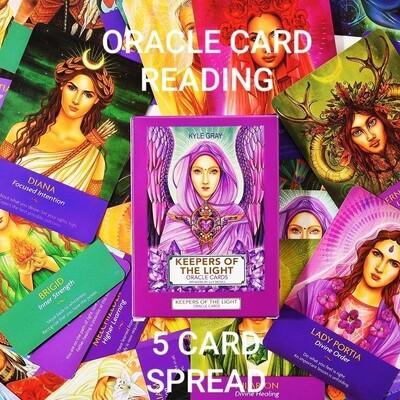 Akasha Zamora Oracle Card Reading - 5 Card Spread