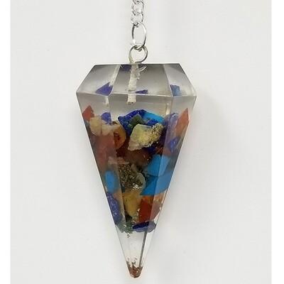 Seven Chakra Orgone Pendulum w/ Chain