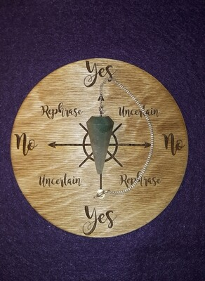 Medium Pendulum Board & Green Aventurine Pendulum Set