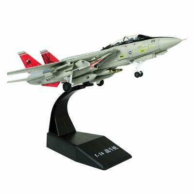 F-14 Tomcat Fighter Attack Plane Metal Fighter Military Model Fairchild Republic Diecast Plane Model for Commemorate Collection or Gift,1/100 Scale