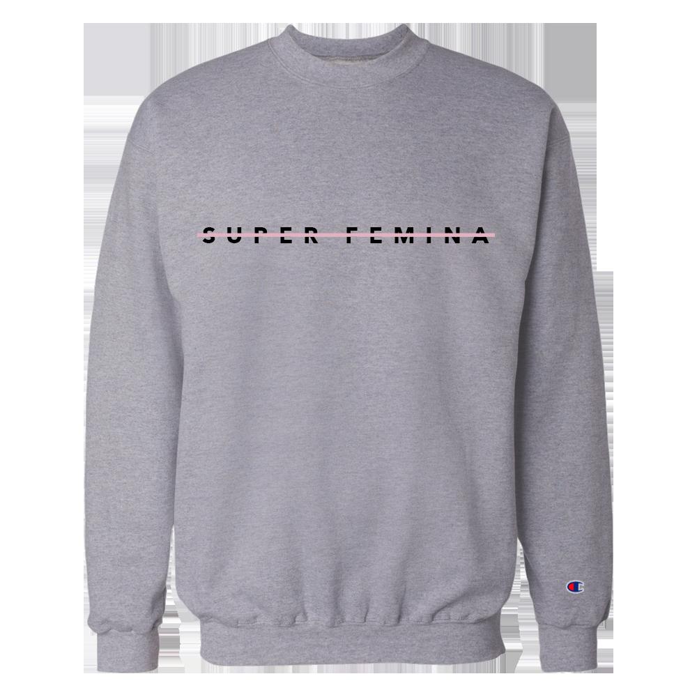 Super Femina Gray w/ Pink Strike Champion® Crewneck