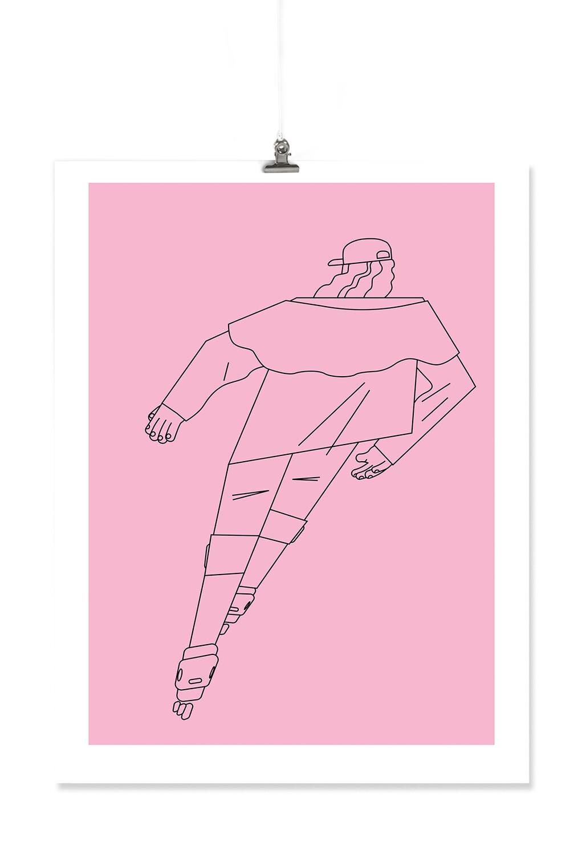 Skater Dude Risograph