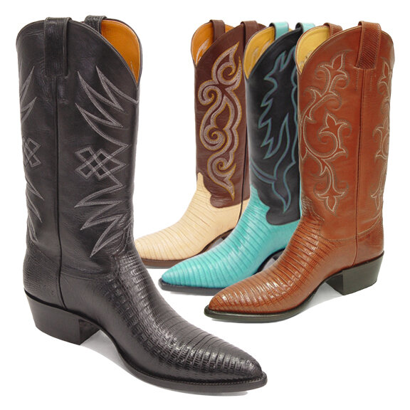 Teju Lizard (18 Colors) Cowboy Boots
