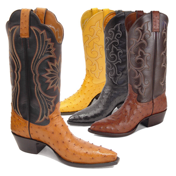 Full Quill Ostrich Cowboy Boots (18 COLORS)