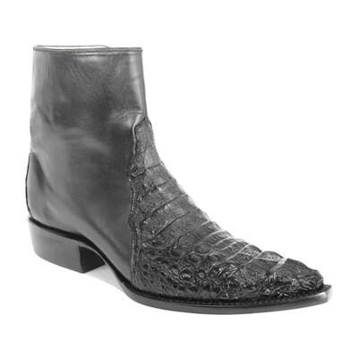 Hornback Caiman Crocodile Ankle Boots (11 colors)
