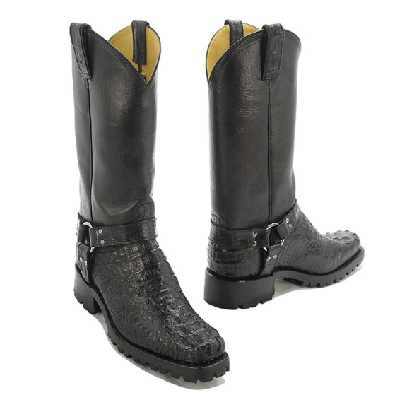 Caiman Hornback Crocodile  Motorcycle Boots (11 Colors)