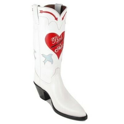 Lovebird Wedding Cowboy Boots