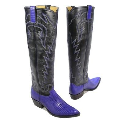 Teju Lizard Tall Cowboy Boots (18 Colors)