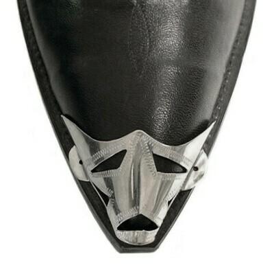 German Silver X-Toe Boot Tips Star