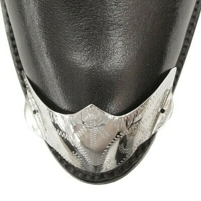 German Silver F-Toe Boot Tips Engraved