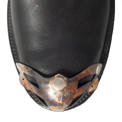 German Flamed Silver W-Toe Boot Tips Van Helsing