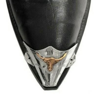 German Silver X-Toe Boot Tips Longhorn