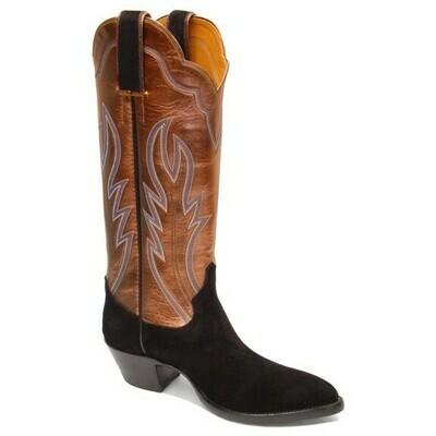 Loretta Suede Cowboy Boots