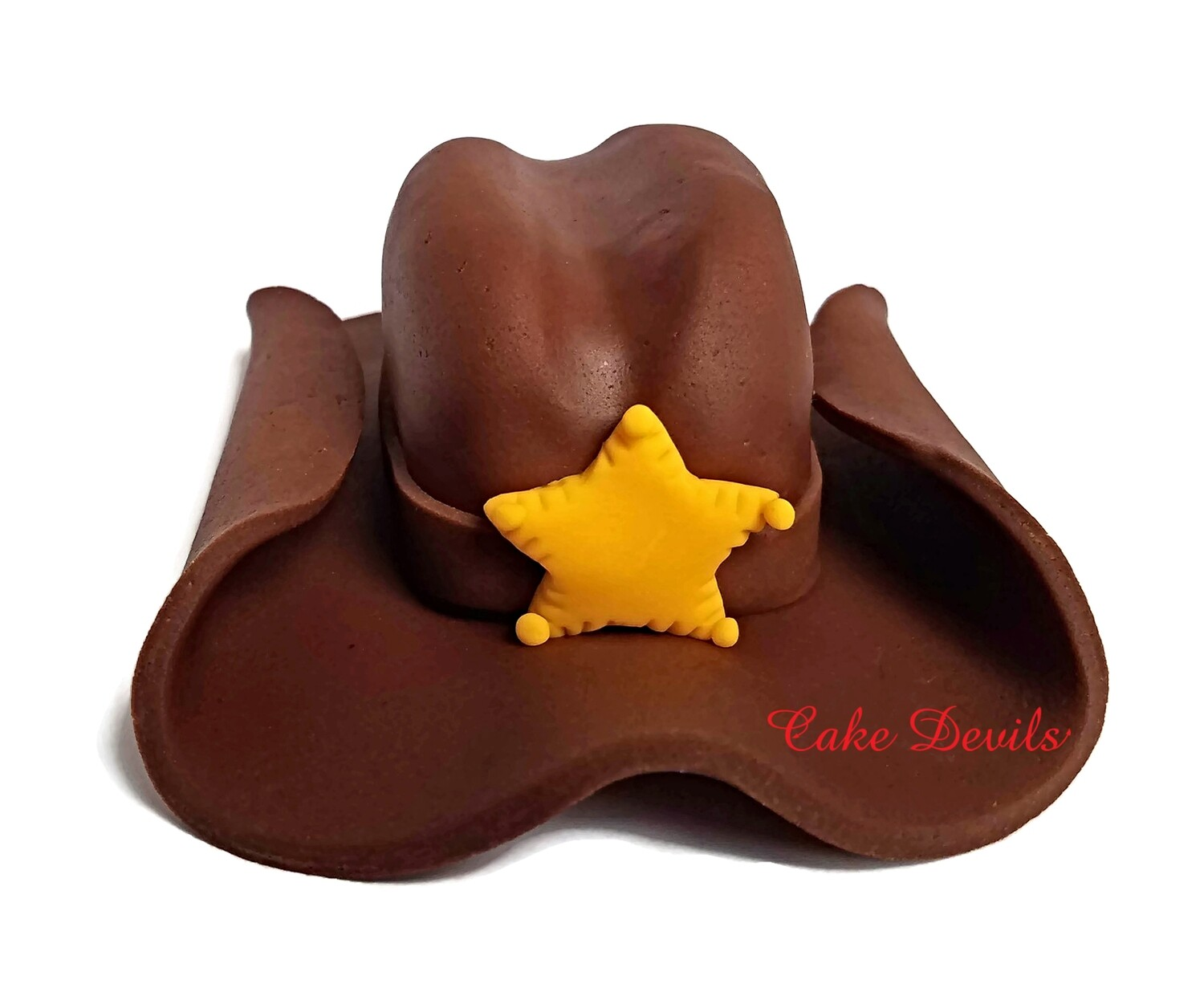 Cowboy or Cowgirl Hat Fondant Cake Topper for Country Western Cake