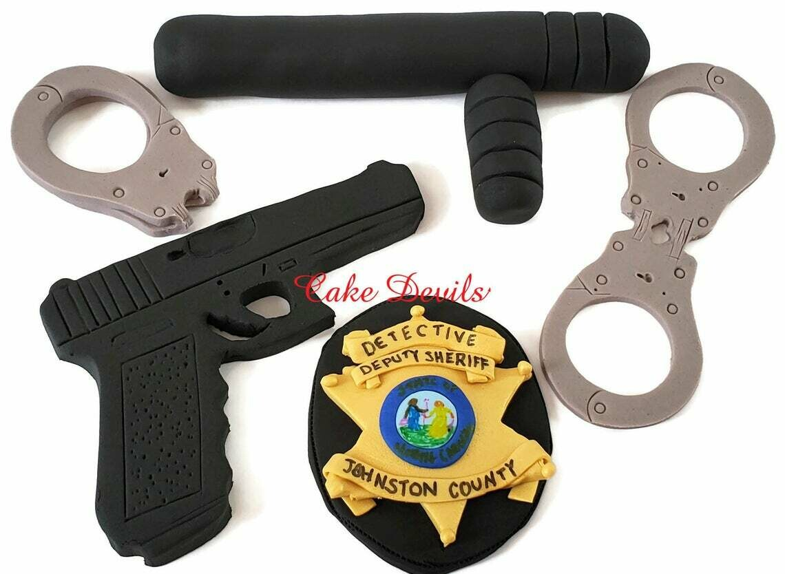 Police Officer Cake Decorations for Police Academy Graduation, Police Retirement