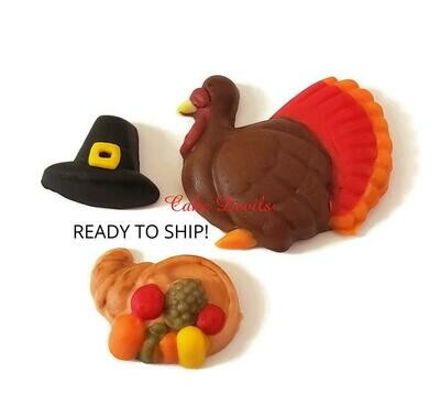 Fondant Thanksgiving Cake Toppers