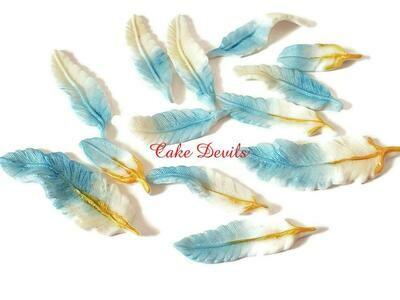 Fondant Feathers Cake Decorations