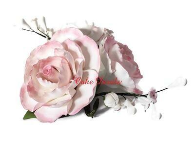 Fondant Flower Cake Topper Spray, Gardenia Floral Wedding Cake Topper