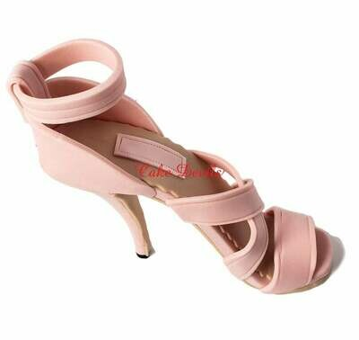 Strappy High Heel Shoe Cake Topper