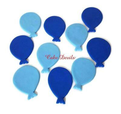 Fondant Balloon Cupcake Toppers