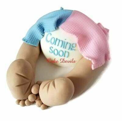 Gender Reveal Baby Butt Cake Topper
