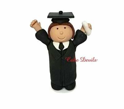 Graduation Boy or Girl Fondant Cake Topper