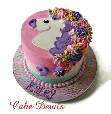 Unicorn Head Cake Topper, Fondant Unicorn head, Unicorn Party, Flat Unicorn, Handmade Edible birthday decorations
