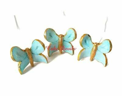 Butterfly Cake Decorations, Fondant Butterflies on wires