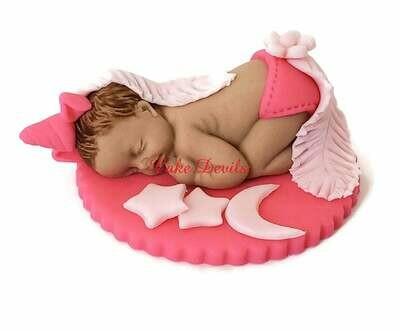 Fondant Unicorn Baby Shower Cake Topper