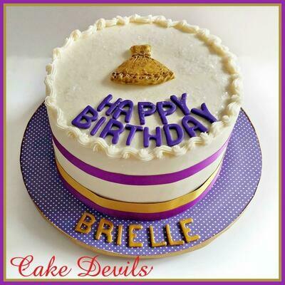 Princess Party Dress Cake Topper, Fondant Dress cake topper, Princess Dress, Girl Birthday Cake Topper, Princess party cake topper, bridesmaids