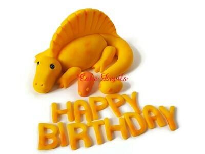 Fondant Spinosaurus Dinosaur Cake Topper